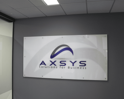 Axsys Reception Sign