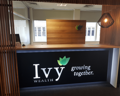Ivy Wealth Reception Counter