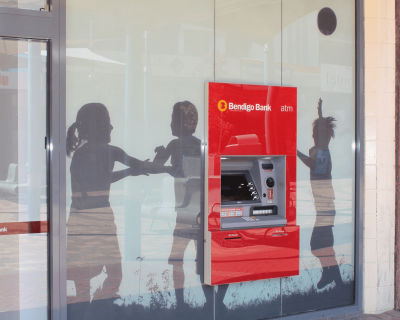 Bendigo Bank Glass Graphic